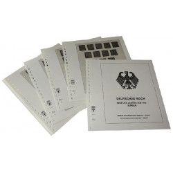 Feuilles pré imprimées Lindner-T Occupation Allemande de Serbie 1941-1943.