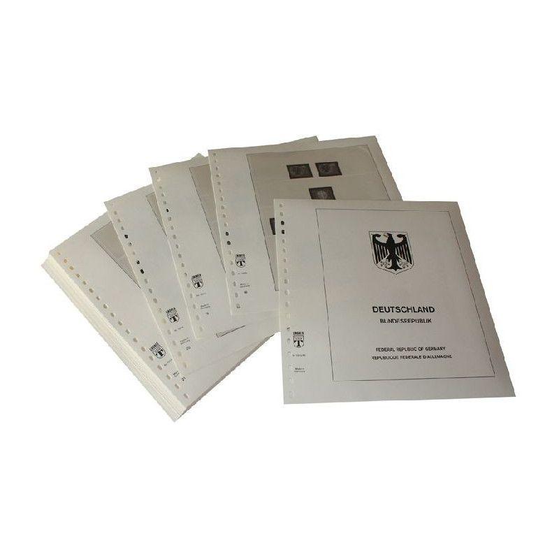 Feuilles pré imprimées Lindner-T République Fédérale Allemagne 1970-1979.