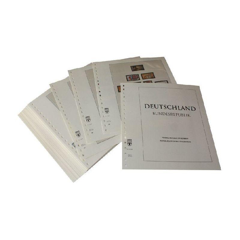 Feuilles pré imprimées Lindner-T République Fédérale Allemagne 1980-1989.
