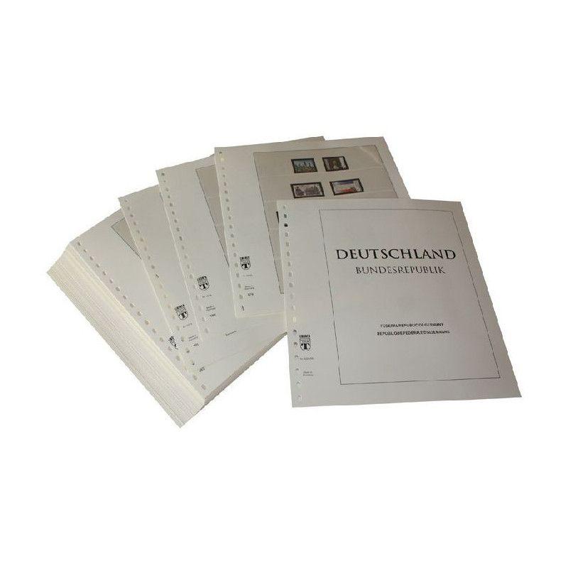 Feuilles pré imprimées Lindner-T République Fédérale Allemagne 1995-1999.