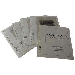 Feuilles pré imprimées Lindner-T Allemagne Pages-Souvenirs 2005-2012.