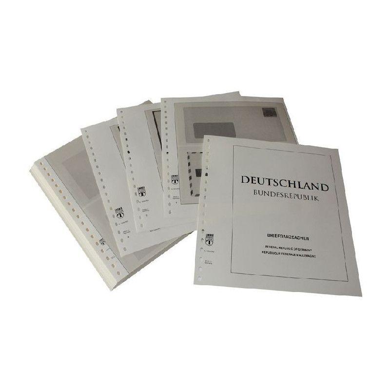 Feuilles pré imprimées Lindner-T Allemagne Entiers postaux 1998-2008.