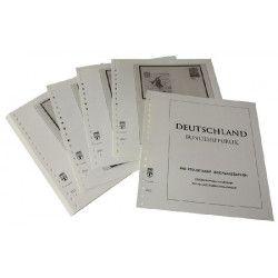Feuilles pré imprimées Lindner-T Allemagne Entiers postaux philatéliques 1998-2016.