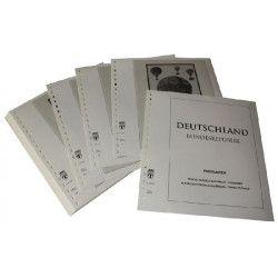 Feuilles pré imprimées Lindner-T Allemagne Cartes postales 1997-2016.