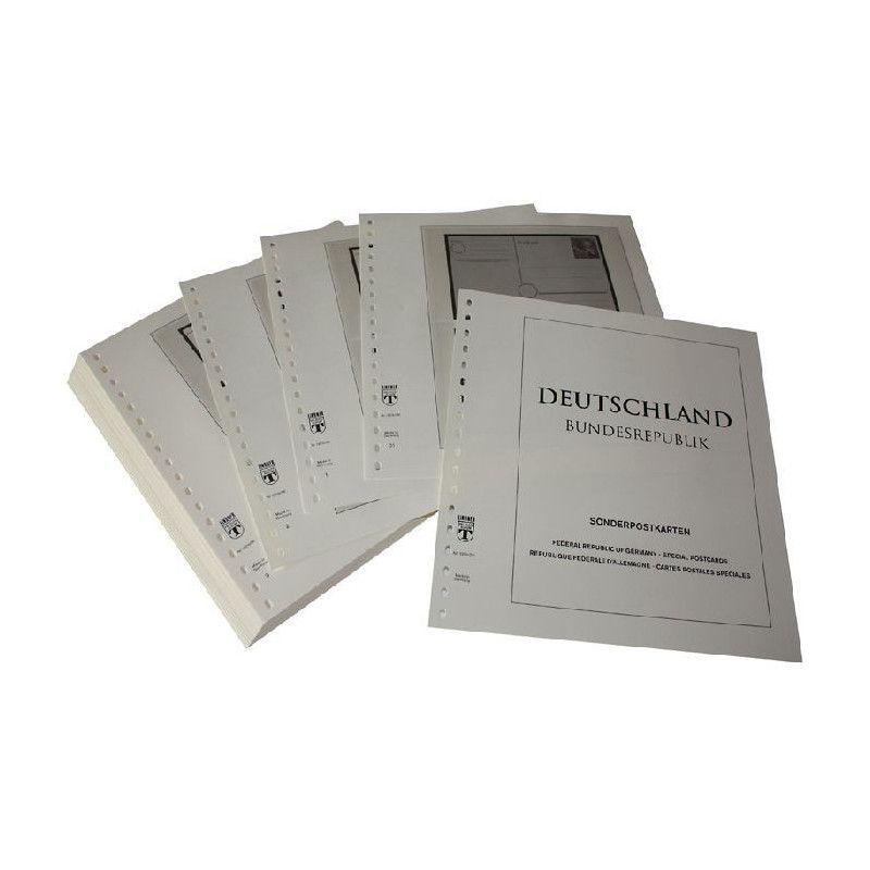 Feuilles pré imprimées Lindner-T Allemagne Cartes postales spéciales 1949-2011.