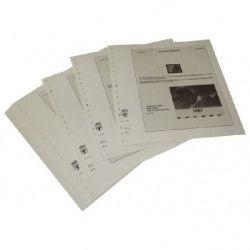 Feuilles pré imprimées Lindner-T Allemagne Erreurs d'impression et variétés 1987-1989.