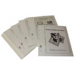 Feuilles pré imprimées Lindner-T Allemagne Variétés 1990-1991.
