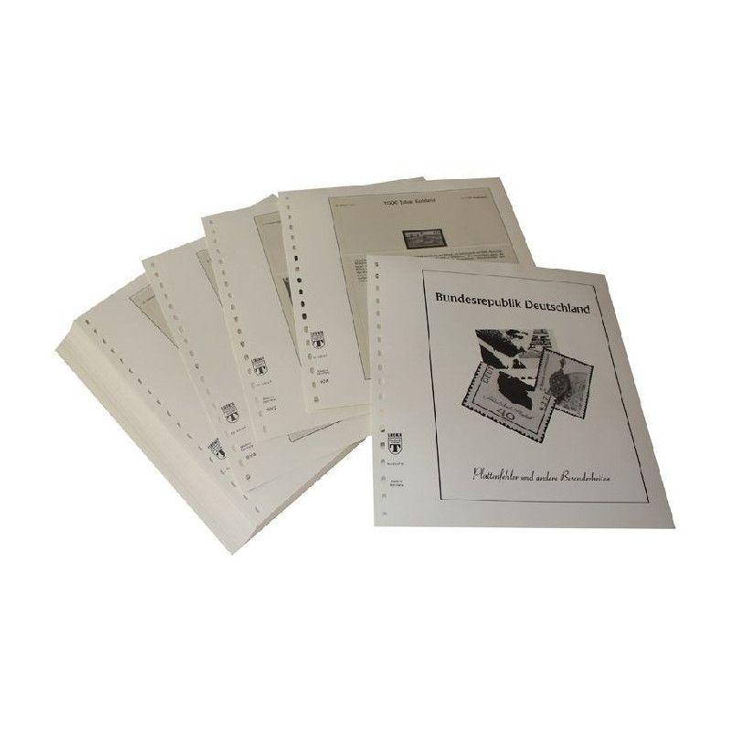 Feuilles pré imprimées Lindner-T Allemagne Variétés 1992-1993.