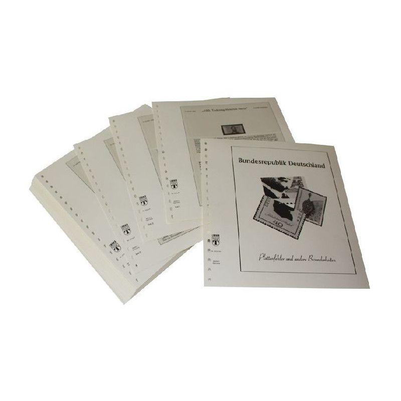 Feuilles pré imprimées Lindner-T Allemagne Variétés 1994-1995.