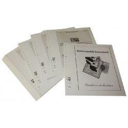 Feuilles pré imprimées Lindner-T Allemagne Variétés 1996-1997.