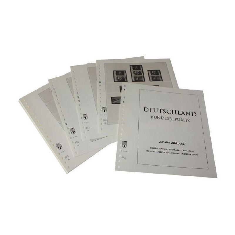 Feuilles pré imprimées Lindner-T Allemagne Timbres se tenant 1996-2007.
