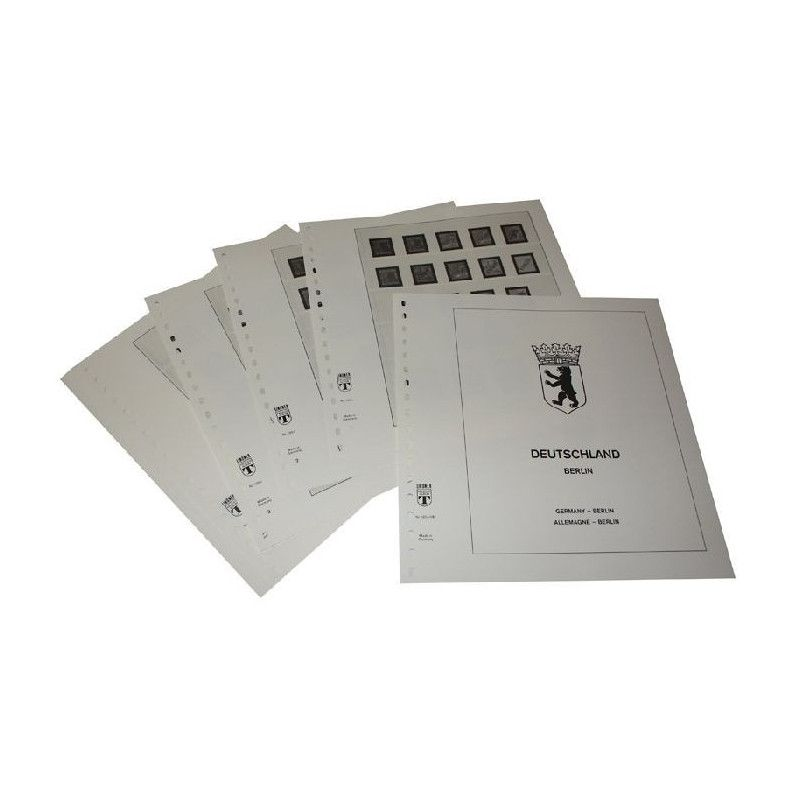 Feuilles pré imprimées Lindner-T Berlin complet 1948-1990.