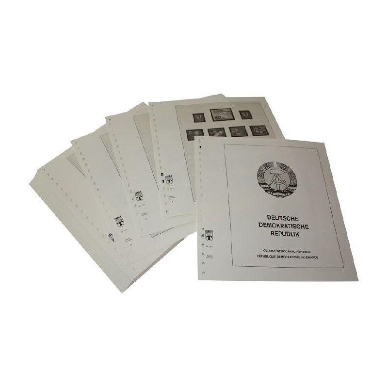 Feuilles pré imprimées Lindner-T Allemagne de l'Est complet 1949-1990.
