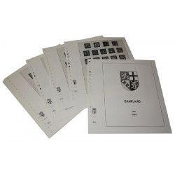 Feuilles pré imprimées Lindner-T Sarre 1947-1959.
