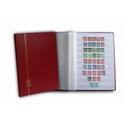 Classeur Perfecta grand modèle 48 pages blanches pour timbres-poste.
