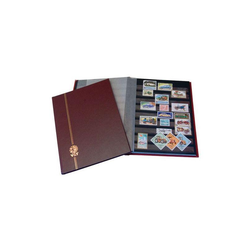 Classeur Perfecta petit modèle 32 pages noires pour timbres-poste.