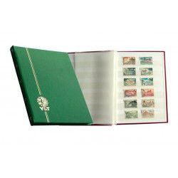 Classeur Perfecta petit modèle 32 pages blanches pour timbres-poste.