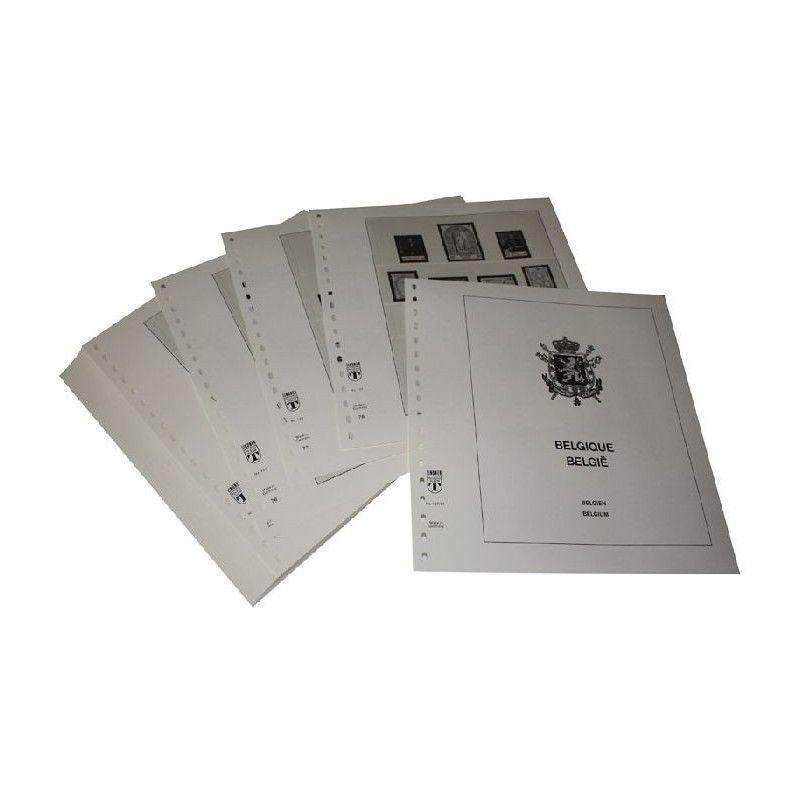 Feuilles pré imprimées Lindner-T Belgique 1981-1989.