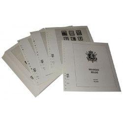 Feuilles pré imprimées Lindner-T Belgique 1990-1997.