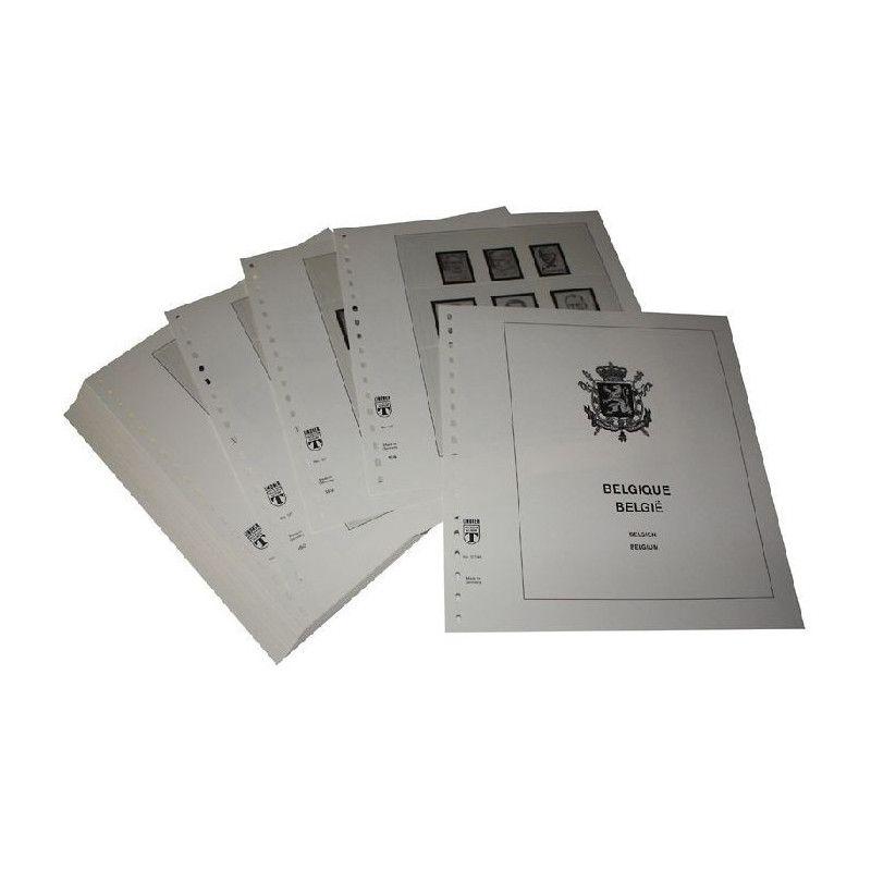 Feuilles pré imprimées Lindner-T Belgique 1998-2003.