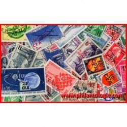 """Reunion, timbres de France surchargés """"CFA"""" tous différents."""