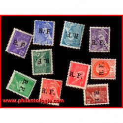 10 timbres de Libération de...