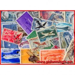 25 timbres poste aérienne...