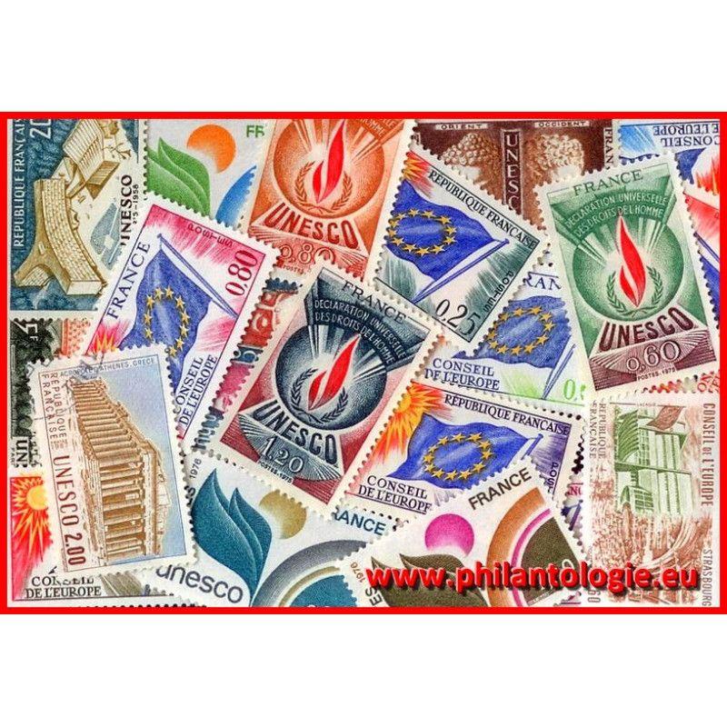 25 timbres de service de France tous différents.