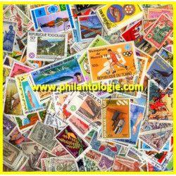 Communauté Française timbres grands formats tous différents.