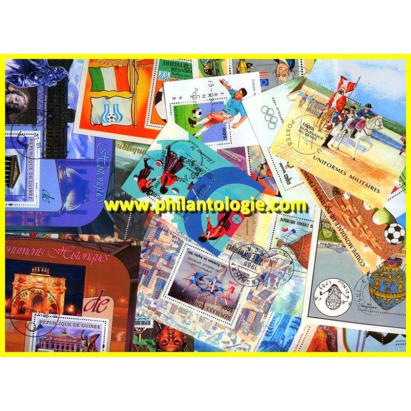 Communauté Française blocs-feuillets de timbres tous différents.