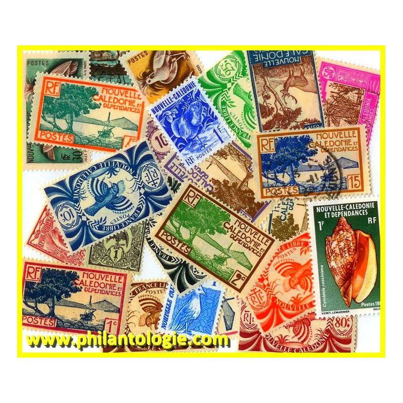 Nouvelle Calédonie timbres de collection tous différents.