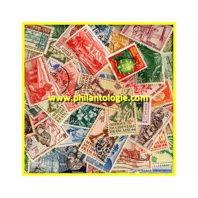 Afrique Occidentale Française timbres de collection tous différents.