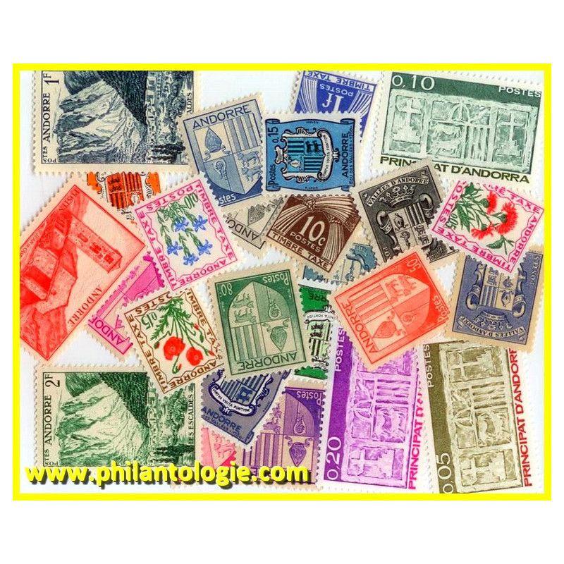 Andorre Français timbres de collection tous différents.