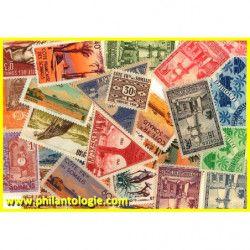 Côte Française des Somalis timbres de collection tous différents.