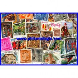 Andorre Espagnol timbres de collection tous différents.