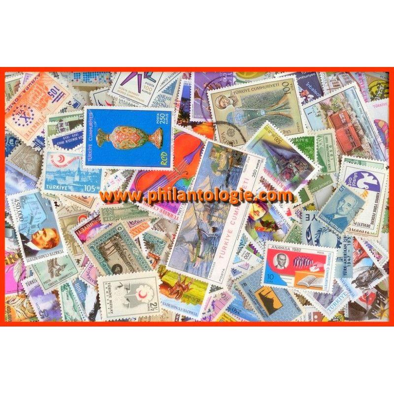 Turquie timbres de collection tous différents.