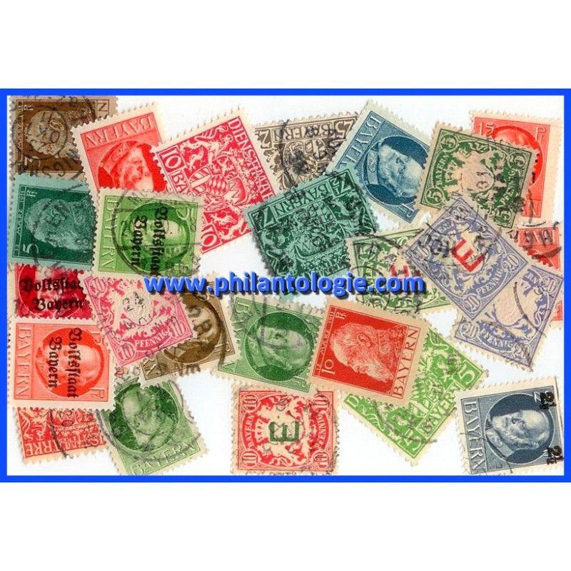 Bavière timbres de collection tous différents.