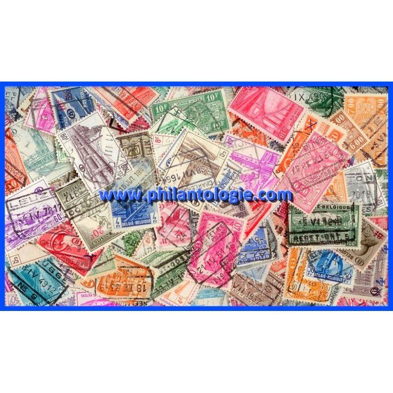 Belgique timbres colis postaux tous différents.