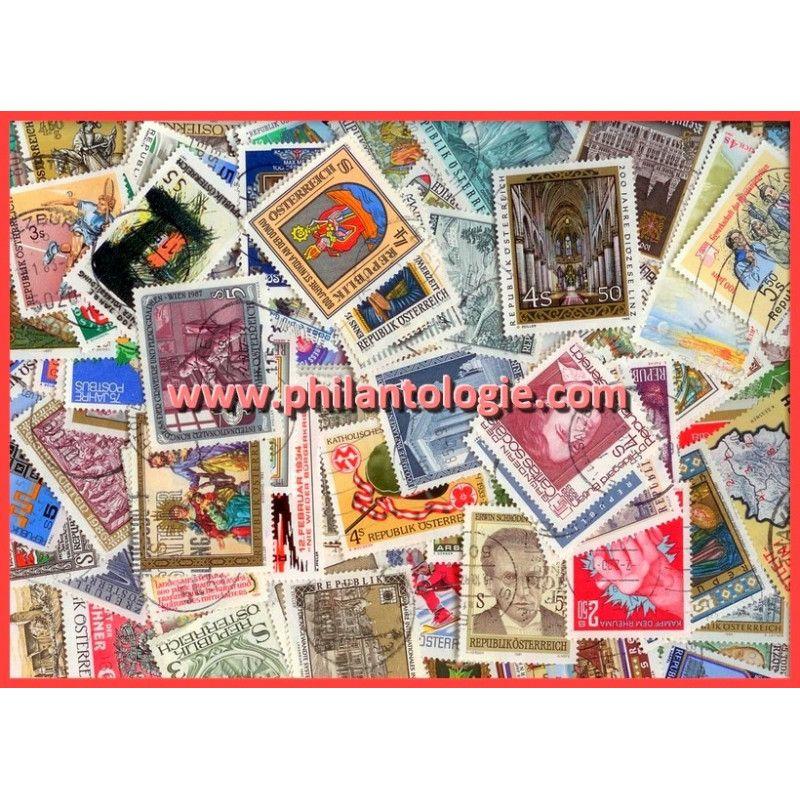 Autriche timbres de collection commémoratifs.