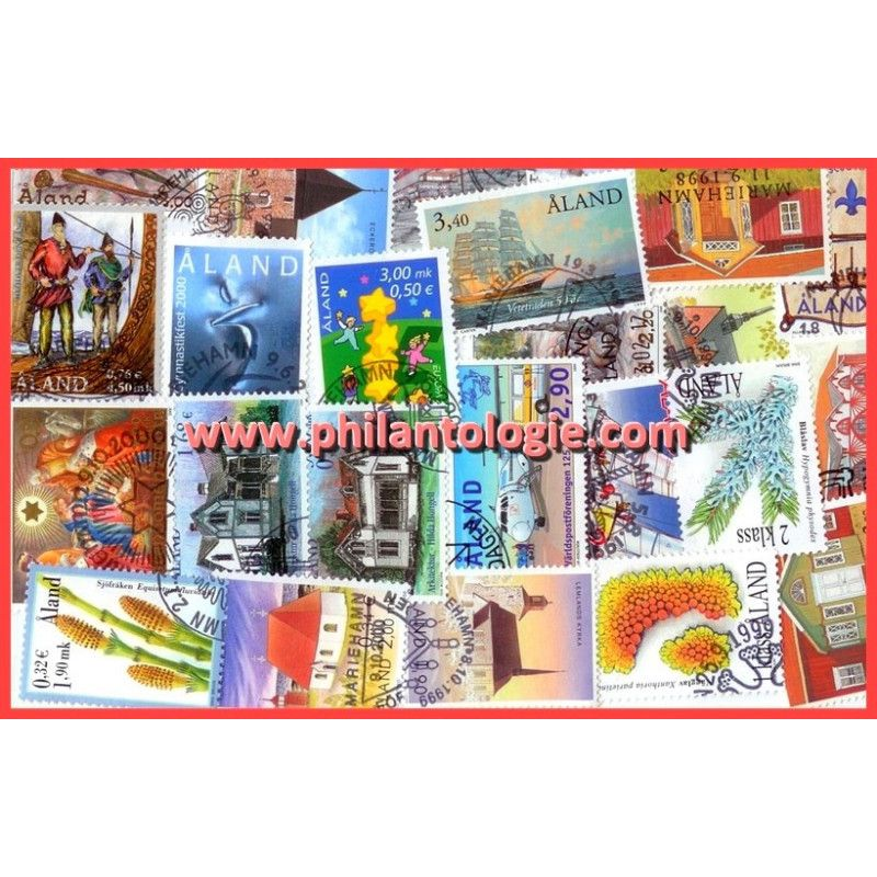 Aland timbres de collection tous différents.