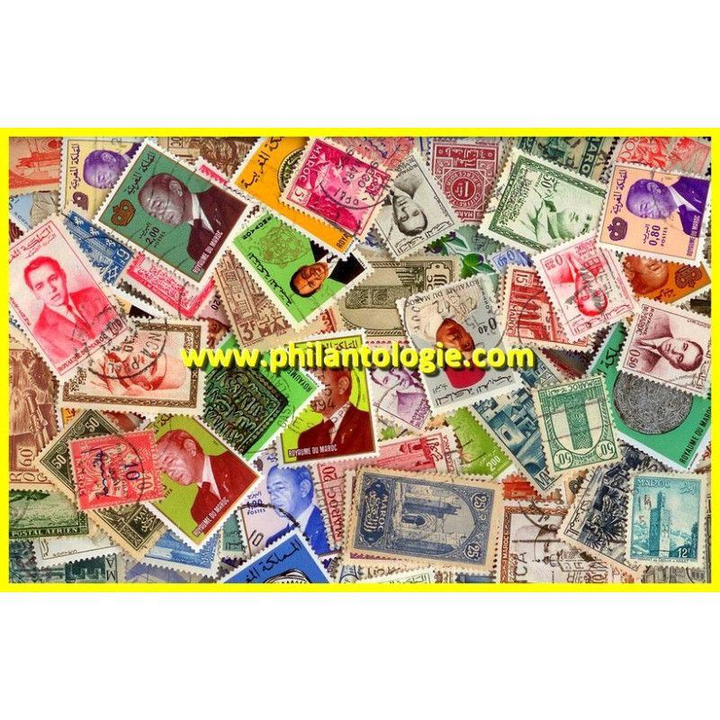 Maroc Français timbres de collection tous différents.