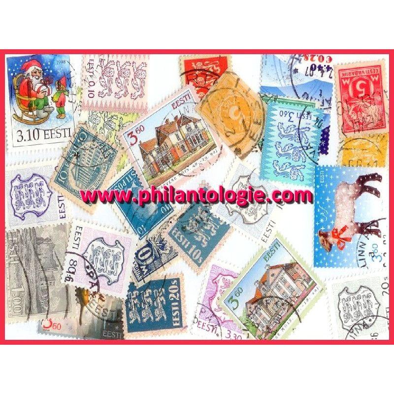 Estonie timbres de collection tous différents.