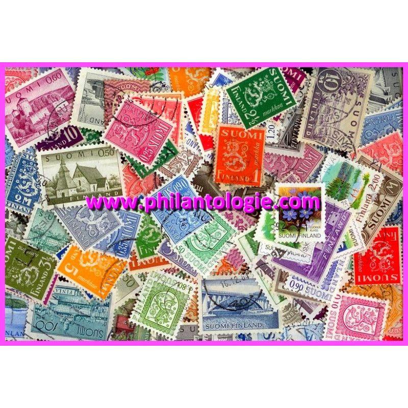 Finlande timbres de collection tous différents.