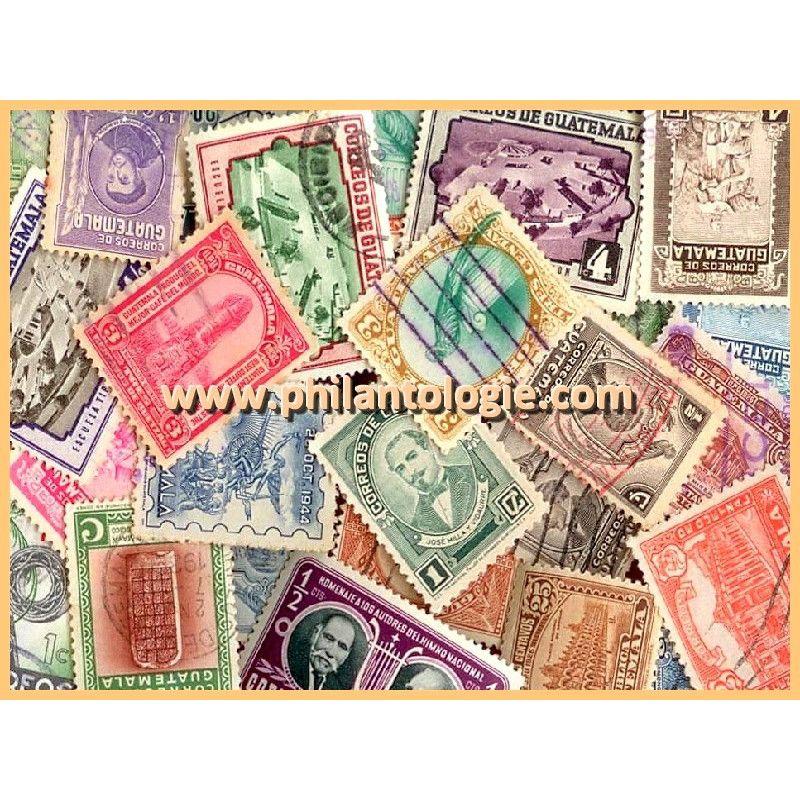 Guatemala timbres de collection tous différents.
