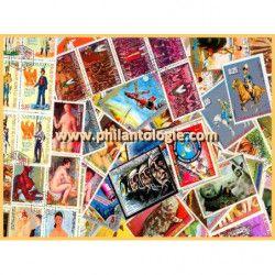 Guinée équatoriale timbres de collection tous différents.