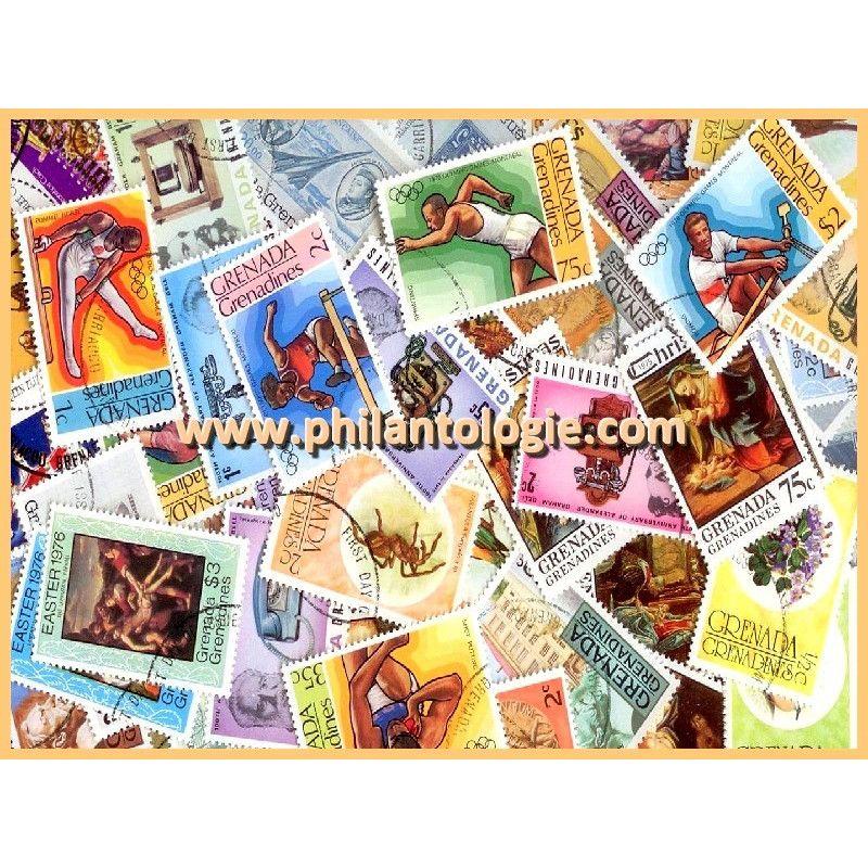 Grenades - Grenadines timbres de collection tous différents.