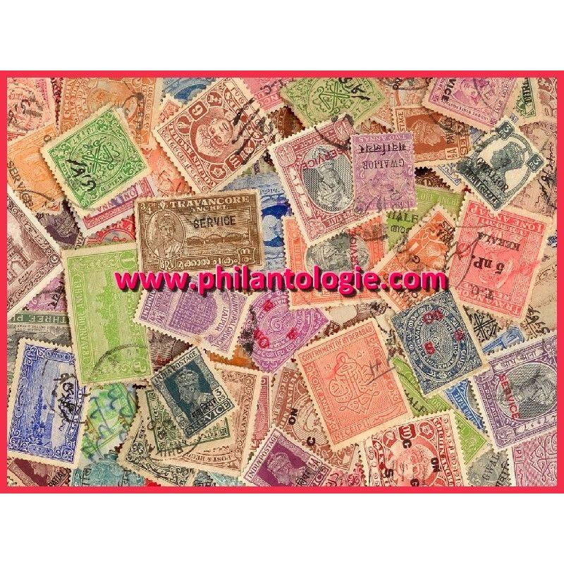États Indiens timbres de collection tous différents.