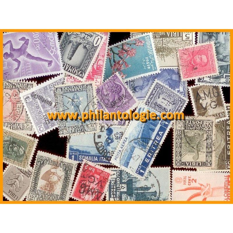 Colonies Italiennes timbres de collection tous différents.