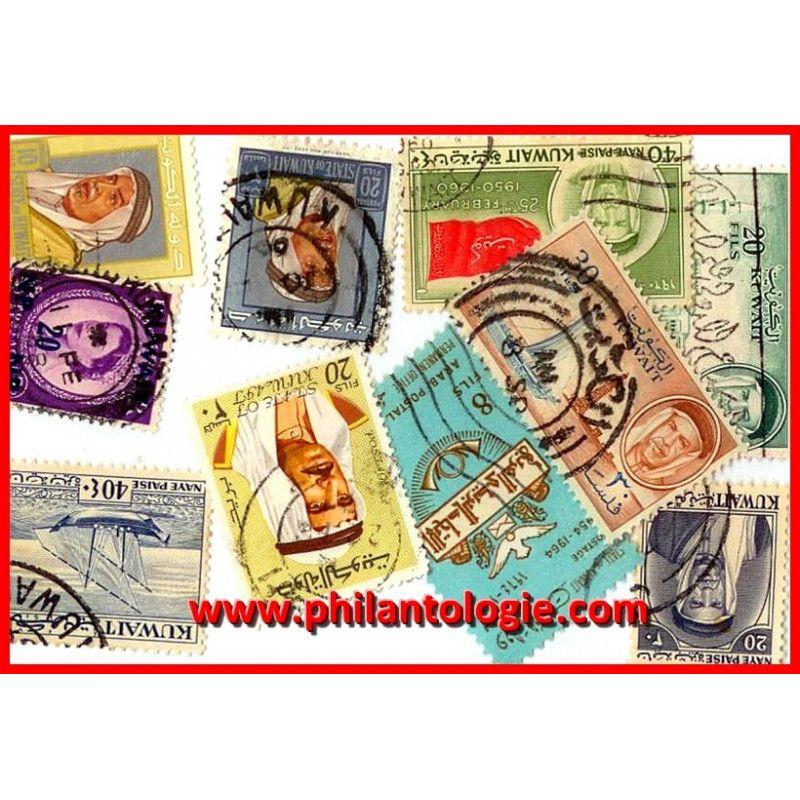 Koweït timbres de collection tous différents.