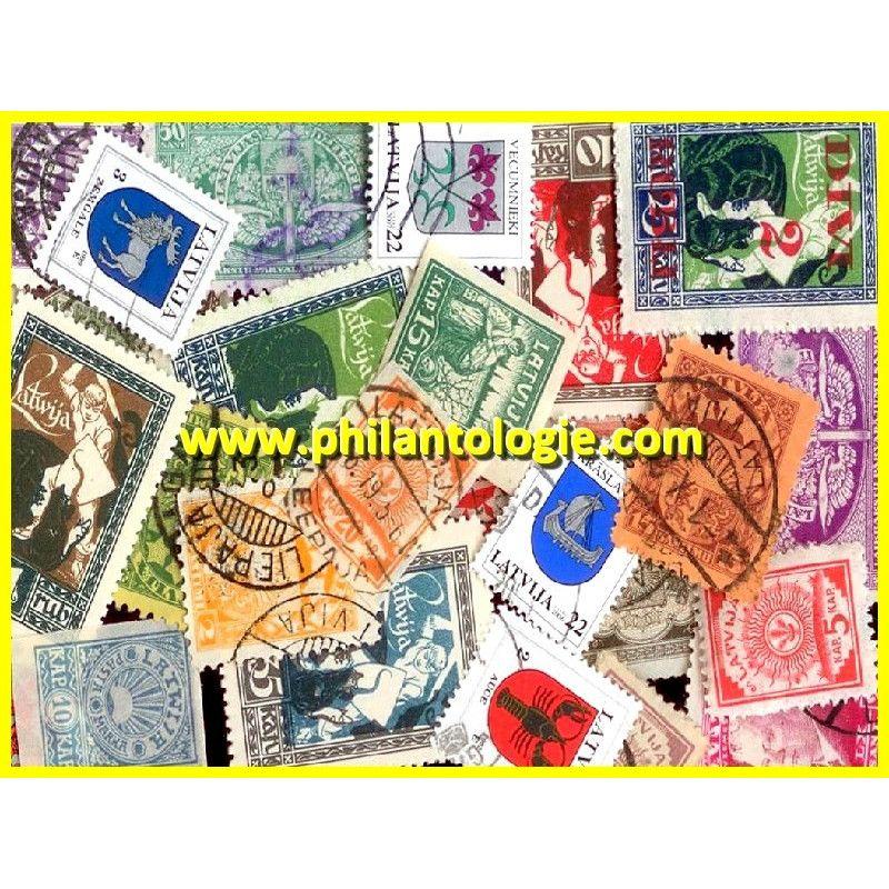 Lettonie timbres de collection tous différents.